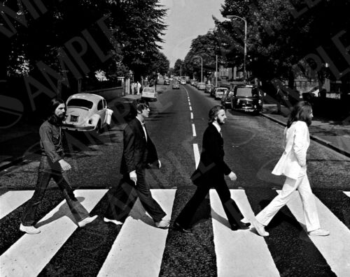 The Beatles Abbey Road A3 A4 Black And White