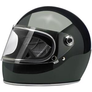 Motorrad-Helm-ECE-DOT-geprueft-GRINGO-S-BILTWELL-sierra-gruen-glaenzend-green-gloss