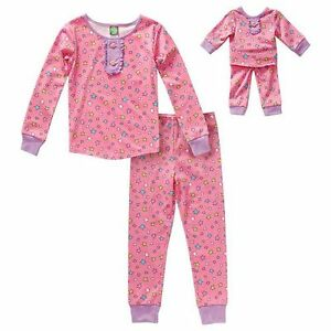 Dollie /& Me Girl 12 and Doll Matching Pajama Outfit Clothes fit American Girls