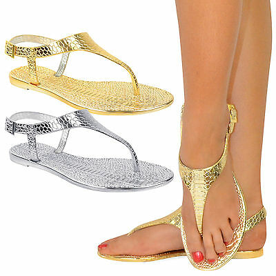 LADIES WOMENS JELLY BEACH SUMMER FLIP FLOPS TOE POST THONG SANDALS SHOES SIZE
