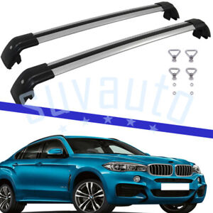 US Stock Cross Bar Fit for BMW X6 2018-2021 Aluminum Durable Roof Rail Luggage