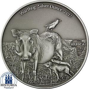 Afrika-Serie-Warzenschwein-Silver-Ounce-2017-Kamerun-1000-Francs-Antique-Finish