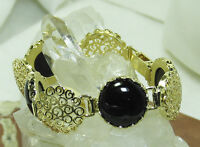 Hsn Noa Zuman Black Onyx Filigree Technibond Gold Plated Sterling Israel 7