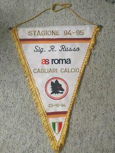 Gagliardetto-94-95-AS-Roma-Cagliari-Calcio-Sig-R-Russo-Ricamato-Pennant