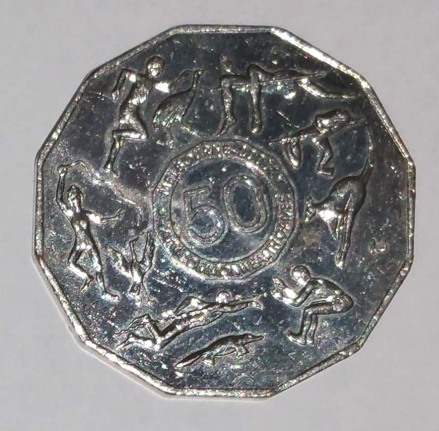 """2005 50 cent 50c coin /"""" COMMONWEALTH GAMES MELBOURNE  /"""" COMMEMORATIVE COIN"""
