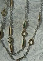 Charming Charlie Jewelry Set Necklace & Earrings Gold & Silver Tones W Tags