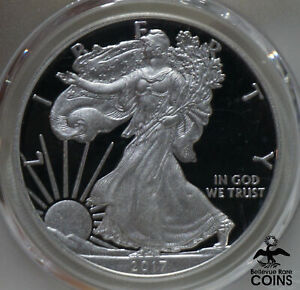 2017-W US 1oz American Silver Eagle PCGS PR70 DCAM 1st Day of Issue Gold Label!
