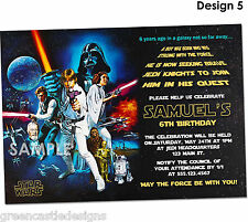 20 Star Wars Invitations Birthday Party Invites Printed Envelopes D5