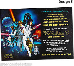 20-Star-Wars-Invitations-Birthday-Party-Invites-Printed-Envelopes-D5
