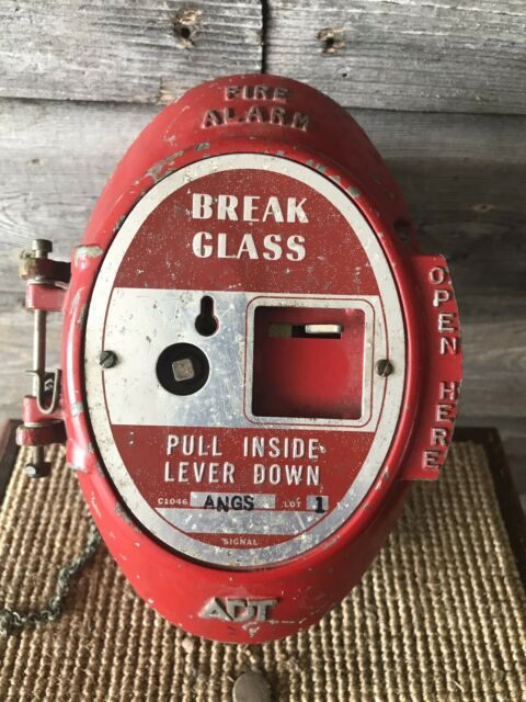 Vintage ADT Fire Alarm Fire Box