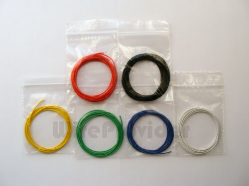 8m 10//0.1mm Equipment Wire Kit  6 Colours 0.5A Miniature Stranded   WP-031016