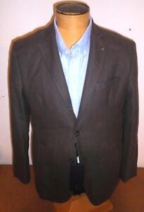 Massimo-Dutti-Extra-Fine-Cotton-Three-Button-Sport-Coat-Jacket-NWT-42R-Brown