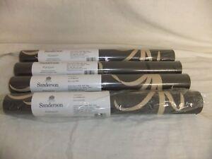C4-Papier-Peint-Sanderson-Pompon-design-Suzu-Lot-Lettre-AA5-x-quatre-Rolls-W25