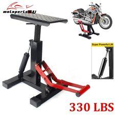 Universal 330lb Motorcycle Adjustable Lift Table Dirt Bike Jack Lift Hoist Stand
