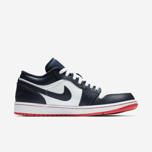 Nike Air Jordan 1 Low I AJ1 Obsidian Ember Glow White Men Shoes 553558-481 free shipping