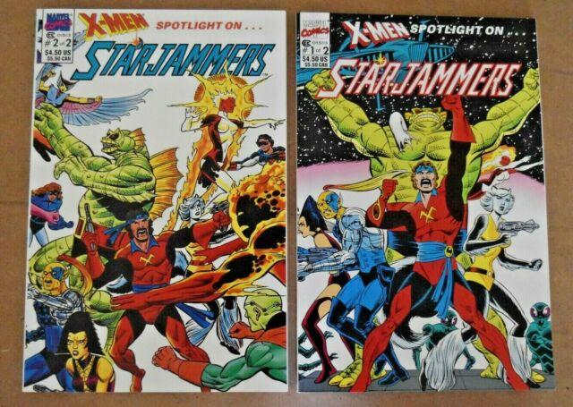 Marvel Comics 1990 X-Men Spotlight On StarJammers #1&  #2 ~ 2 Book Lot ~ VF/NM