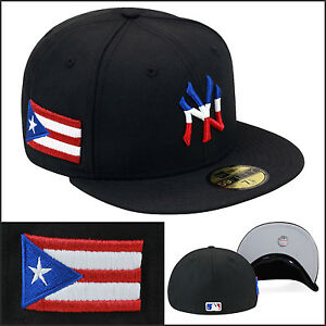 New Era New York Yankees Fitted Hat Cap Puerto Rico Rican PR ... 1b39a7a84