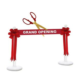 """25/"""" Red//Silver Ceremonial Ribbon Cutting Scissors for Grand Opening"""
