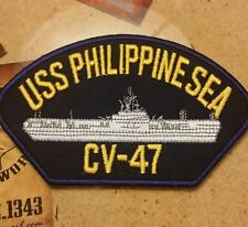 USS PHILIPPINE SEA CV-47 hat vest jacket patch