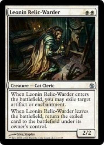 4x Leonin Relic-Warder NM MTG Mirrodin Besieged Magic