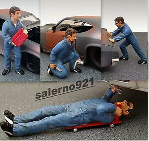 MECHANIC SET FIGURES W/ACCESSORIES  1:24 (G) SCALE  GARAGE DIORAMA NEW !