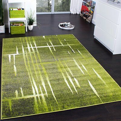 Modern Grey and Green Rug Patterned Living Room Carpet Hall Runner Small X  Large | eBay