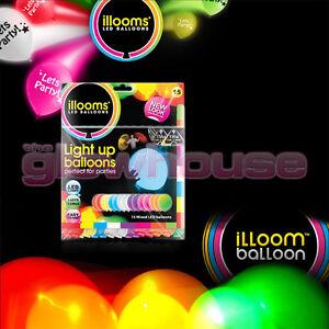 Illoom-Balloons-15-Pack-Multi-Colour-Light-Up-Balloons-Party-Kids-Glow-Balloon