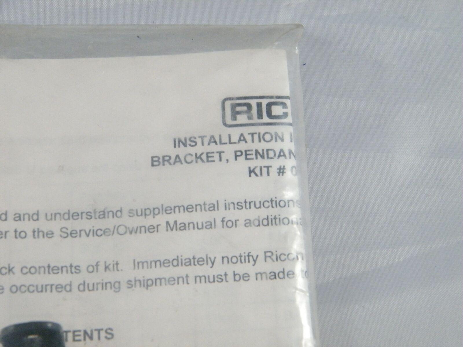 RICON ~ BRACKET PENDANT STRAIN RELIEF KIT ~ PART NUMBER 01007