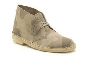 a35046195ae Details about New Clarks Desert Boots - Sand Multi Camo Originals Womens  Boots Size UK 4C