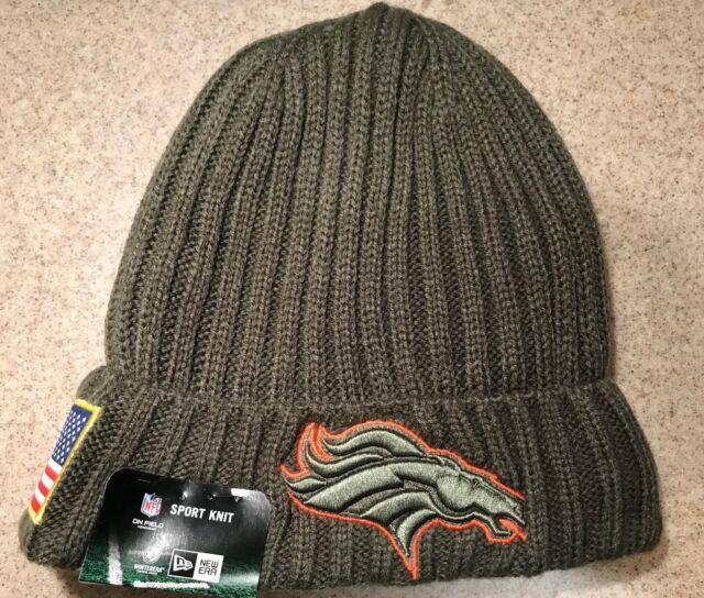 53314c3f3 NEW Era NFL Denver Broncos 2017 Salute to Service Cuffed Knit Beanie Cap  1148137