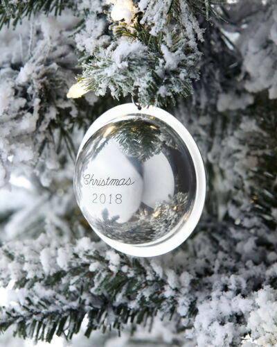NEW Neiman Marcus 2018 Sterling Silver Saturn Ball Christmas Ornament Decoration