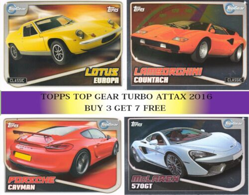 2016 TOPPS TOP GEAR TURBO ATTAX CHOOSE BASE /& SHINY CARDS BUY 3 GET 7 FREE!