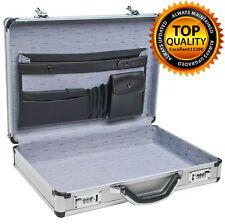 Aluminum Laptop Briefcase Silver 17 Business Lock Attache Case Brief Pockets New