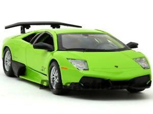 BbURAGO-1-24-LAMBORGHINI-MURCIELAGO-LP-670-4-SV-NEW-DIECAST-MODEL-CAR-LIME-GREEN