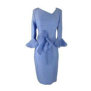 d92856136c Image is loading NUE-by-Shani-Periwinkle-Cocktail-Dress-Sz14-Sheath-
