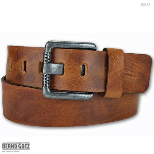 BERND GÖTZ Vollrindledergürtel 5 cm breit Jeansgürtel kürzbar Jeans Belt 50388