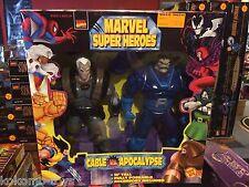 "1997 ToyBiz Marvel Super Heroes 10"" Inch Figure Doll MIB - CABLE & APOCALYPSE"