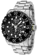New Invicta 1957 Leviathan Reserve Swiss Made Chronograph Black Dial Steel Watch