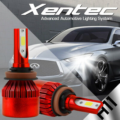XENTEC LED HID Headlight Conversion kit H11 6000K for 2012-2016 Buick Verano