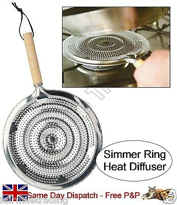 2xSIMMER RING PAN MAT HOB TAGINE HEAT DIFFUSER FOR GAS OR ELECTRIC COOKERS STOVE
