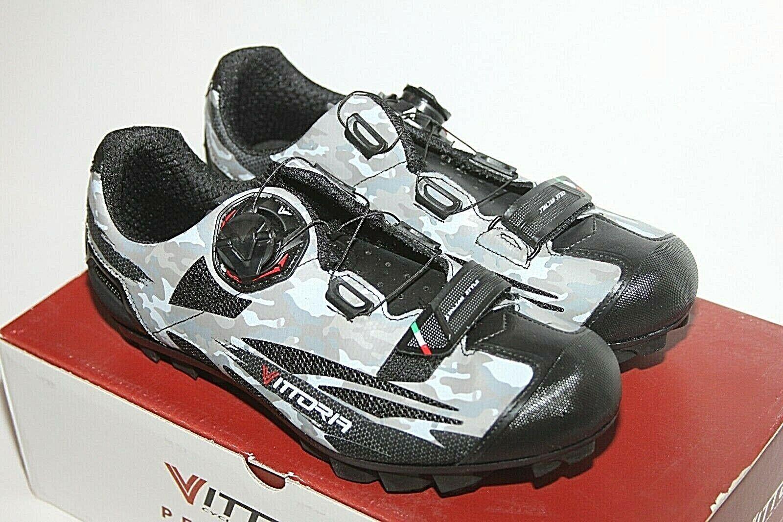 Mens Vittoria Captor SSP MTB shoes Grey Camo Cycling shoes   Sz 41 8 NIB BOA  with 100% quality and %100 service