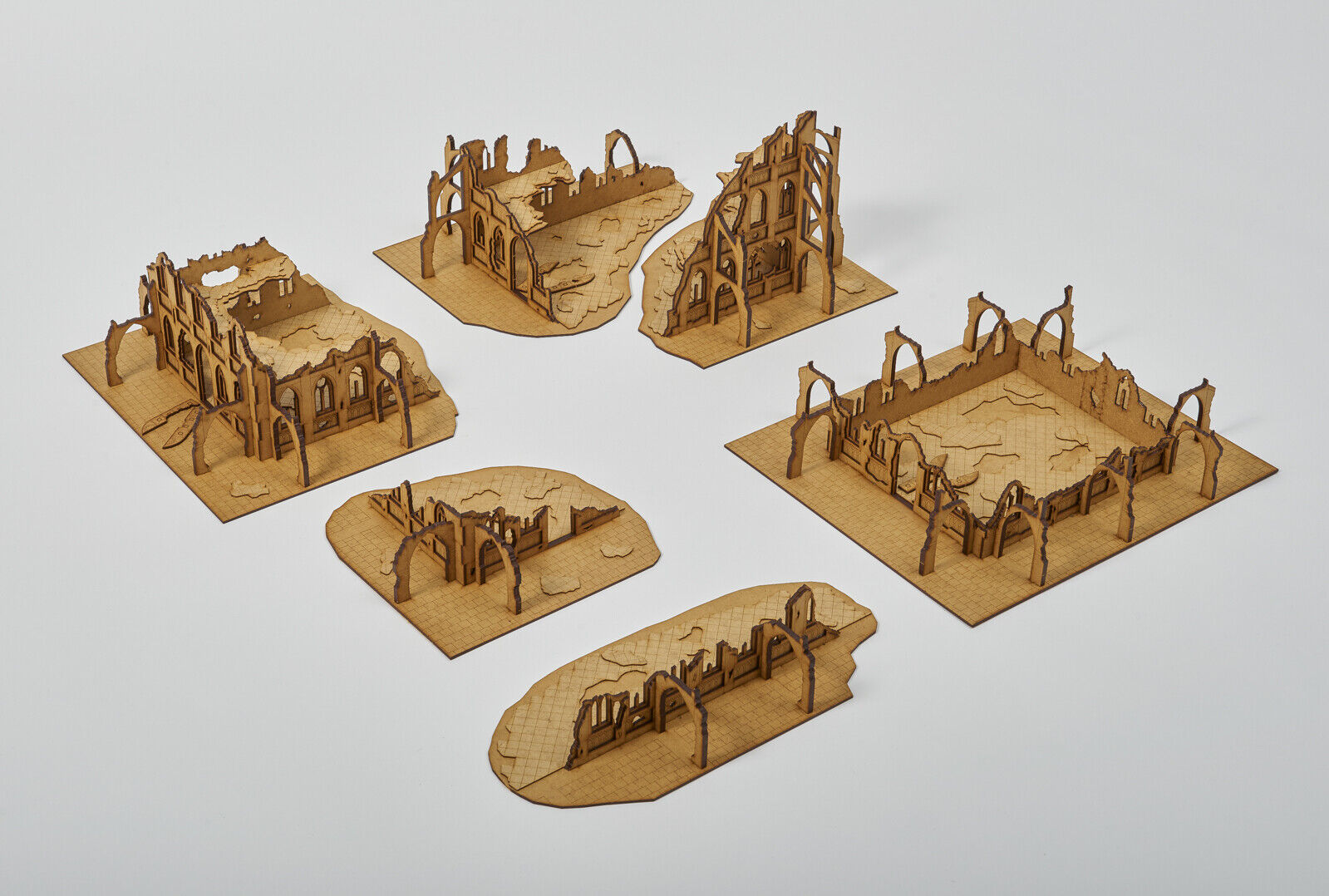 GOTHIC RUINED CITY Laser Cut Wargaming Scenery 28mm Warhammer 40 000 Bolt Action