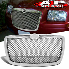 Chrome Mesh Front Vip Replacement Grill Grille For 2005 2010 Chrysler 300 300c Fits Chrysler 300