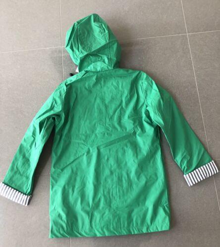 Nouveau Top Shop Femmes à Capuche Imperméable UK 8 PVC Vert Imperméable Doublé Pluie MAC UK