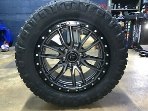 Fuel Wheels 20x9 >> Details About 20x9 Fuel D680 Rebel Gray 33 Wheels Rims Nitto Tires 6x5 5 Chevy Silverado 1500