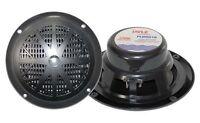 NEW PAIR of  Pyle PLMR61B 120 Watts 6.5'' Dual Cone Marine Speakers (Black)