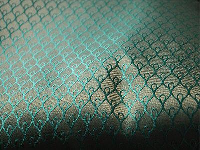 Brocade Fabric sold by yard Sea Green brocade