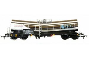 Dapol-4F-027-013-00-Gauge-China-Clay-Slurry-Wagon-Silver-Bullet-chrome-finish