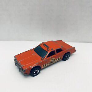 Vintage-1977-Hot-Wheels-Fire-Chief-red-die-cast-metal-car-Mattel-Hong-Kong