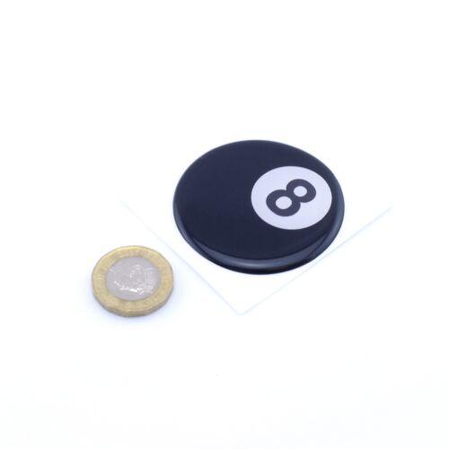 8 Ball Domed Gel STICKER Pool Ball High Gloss Decal 50mm Custom Sizes Made